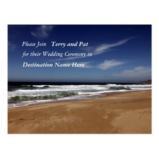 Destination Wedding Postcard