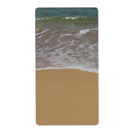 destination wedding sand beach shipping label
