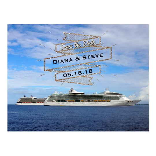 Destination Wedding Save the Date | Cruise Ships