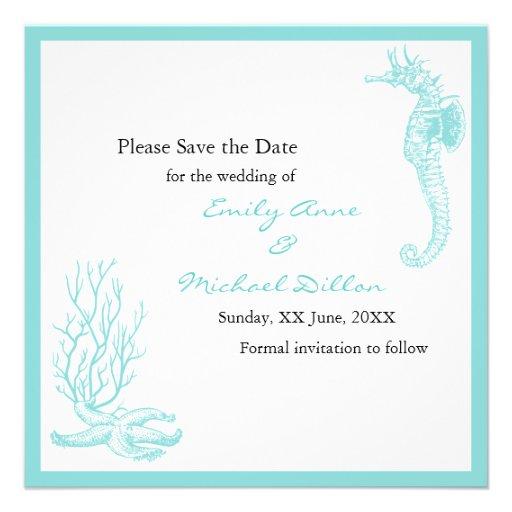 Destination Wedding Save The Date 13 Cm X 13 Cm Square Invitation Card Zazzle