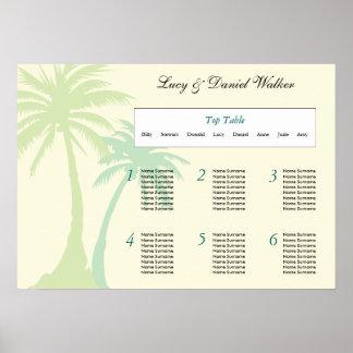 Destination Wedding Seating Table Plan 2 Poster