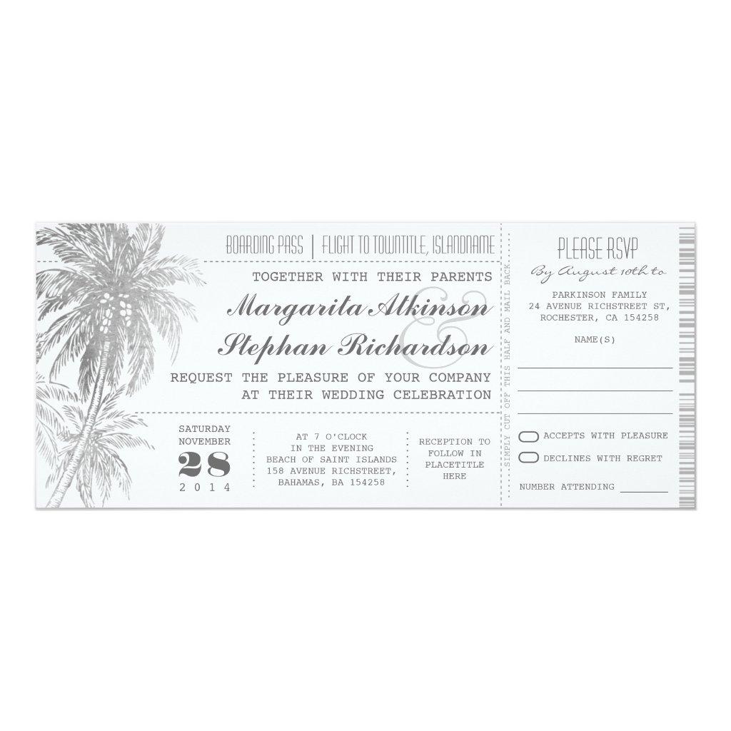 destination wedding tickets
