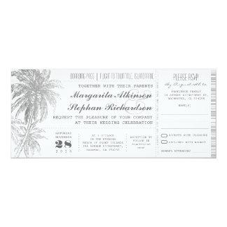 destination wedding tickets card