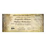 destination wedding tickets with RSVP 10 Cm X 24 Cm Invitation Card