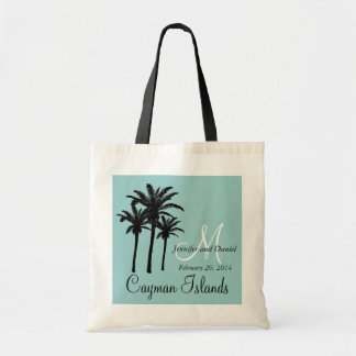 Destination Wedding Tote Bags Caribbean Palm Trees
