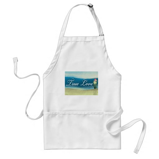 Destination wedding  - true love apron