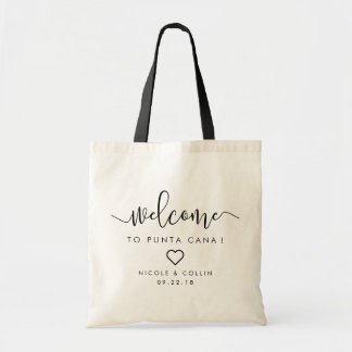 Destination Wedding Welcome Bag | Heart