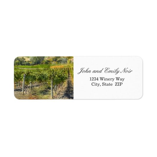 Destination Winery Wedding Address Labels