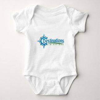 Destinations to Explore Print Logo Merchandise Baby Bodysuit