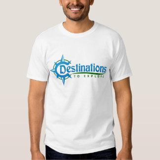 Destinations to Explore Print Logo Merchandise Tees