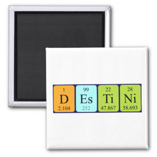 Destini periodic table name magnet