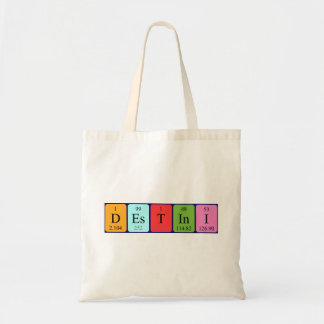 Destini periodic table name tote bag