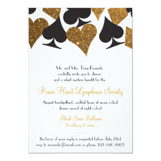 Destiny Las Vegas Casino Party Faux Gold Glitter Card
