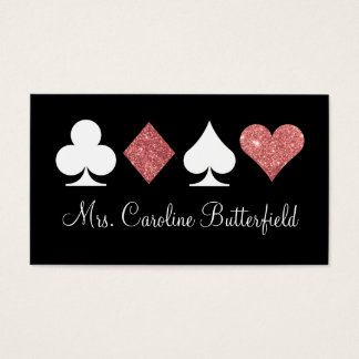 Destiny Las Vegas Glittered Rose Gold Place Card