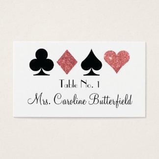 Destiny Las Vegas Glittered Rose Gold Table Card