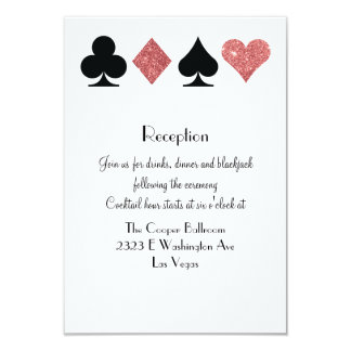 Destiny Las Vegas Reception Rose Gold Glitter Card