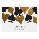 Destiny Las Vegas Thank You Card Faux Gold Glitter
