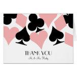 Destiny Las Vegas Thank You Card in White & Pink