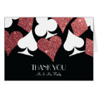 Destiny Las Vegas Thank You Card Rose Gold Glitter
