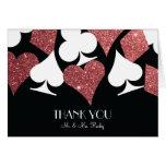 Destiny Las Vegas Thank You Card Rose Gold Glitter Note Card