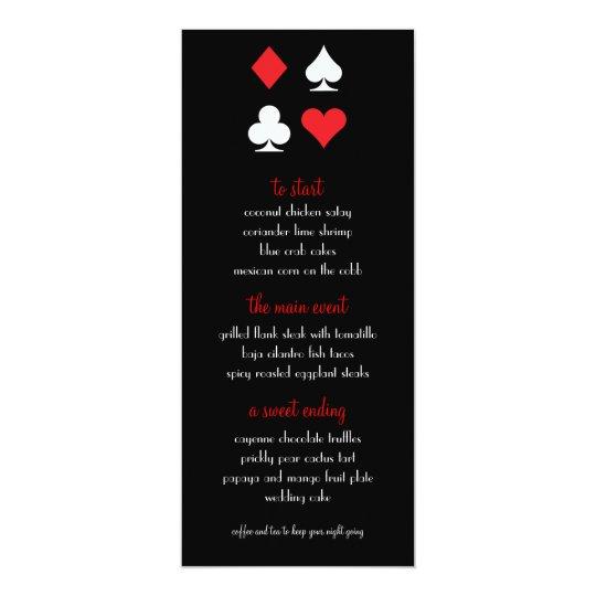 Destiny Las Vegas Wedding Menu Card