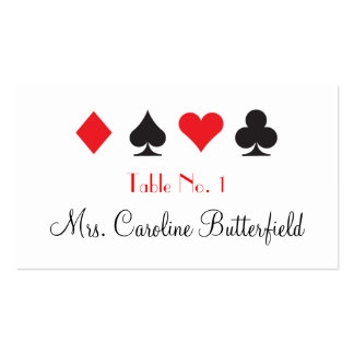 Destiny Las Vegas Wedding Personalized Table Card Pack Of Standard Business Cards