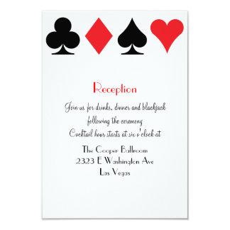 Destiny Las Vegas Wedding Reception Extra Info 9 Cm X 13 Cm Invitation Card
