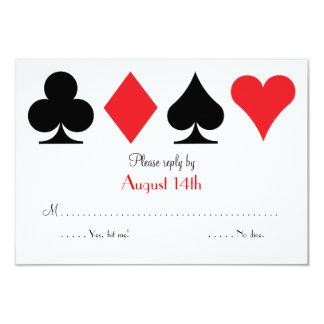 Destiny Las Vegas Wedding RSVP reply card 9 Cm X 13 Cm Invitation Card