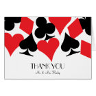 Destiny Las Vegas Wedding Thank You Card in White