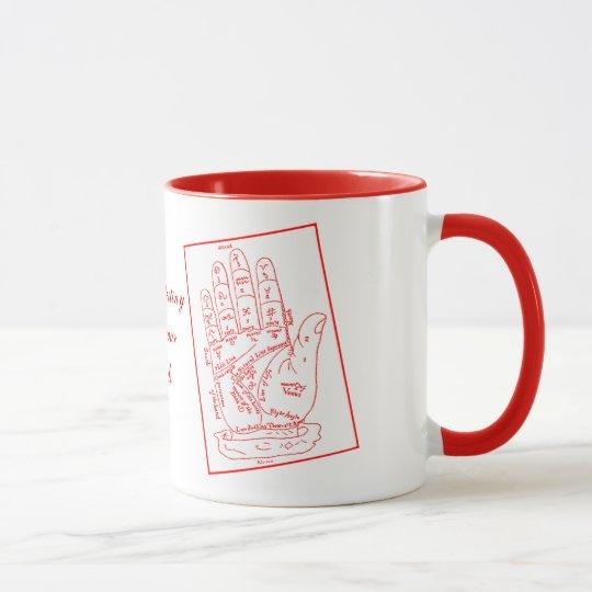 Destiny-Palmistry Hand Print Mug