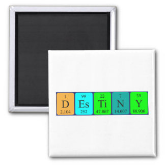 Destiny periodic table name magnet