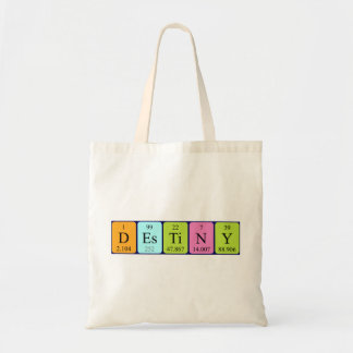 Destiny periodic table name tote bag