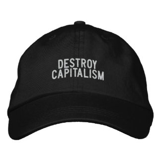 destroy capitalism embroidered hats