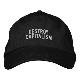 destroy capitalism baseball cap