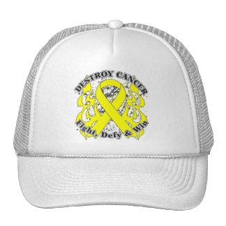 Destroy Ewing Sarcoma Cancer Mesh Hats