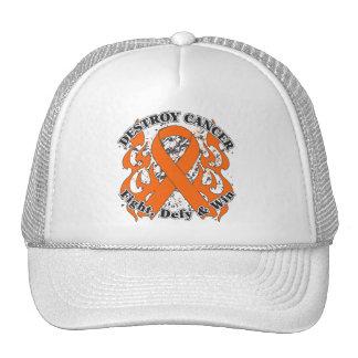 Destroy Leukemia Cancer Trucker Hat