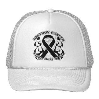 Destroy Melanoma Cancer Trucker Hats