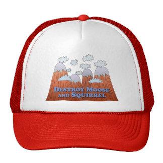 Destroy Moose and Squirrel - Dark Trucker Hat
