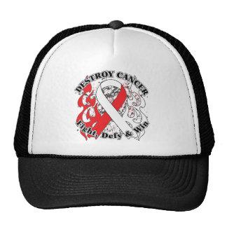 Destroy Oral Cancer Trucker Hats