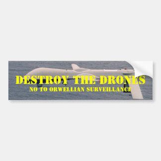Destroy the Drones Bumper Sticker