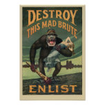 Destroy This Mad Brute - WWI Army Recruiting Poster