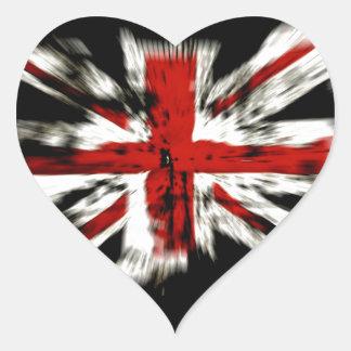 Destroyed British Flag Heart Sticker