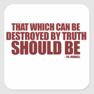 Destroyed by Truth Sticker