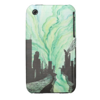 Destroyed City Skyline iPhone 3 Case-Mate Cases