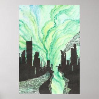 Destroyed City Skyline Poster