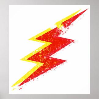 Destroyed lightning bolt poster