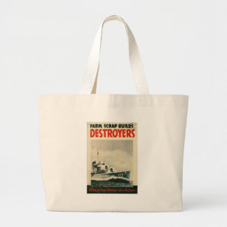 Destroyers World War 2 Tote Bags