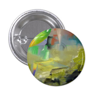 Destruction of Gold Abstract 3 Cm Round Badge