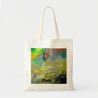 Destruction of Gold Abstract Budget Tote Bag