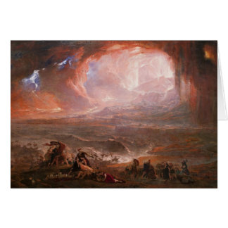 Destruction Of Pompeii And Herculaneum Greeting Card
